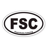 FSC Food Snobs Catering Euro Oval Decal
