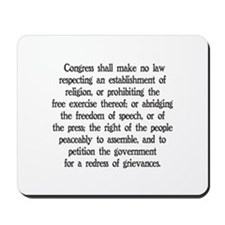 First Amendment Mousepad