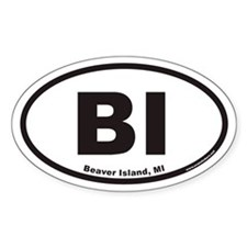 Beaver Island BI Euro Oval Decal