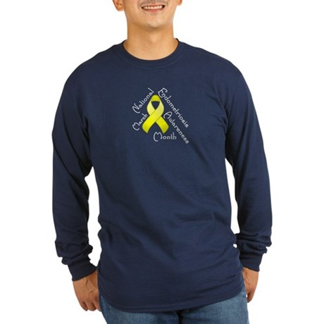 Endometriosis Month Long Sleeve Dark T-Shirt