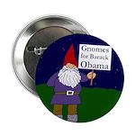 """Gnomes for Obama 2.25"""" Button"""