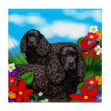 American Water Spaniel Dogs Tile Coaster