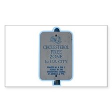 """Cholesterol Free Zone"" Rectangle Decal"