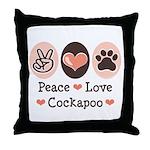 Peace Love Cockapoo Throw Pillow