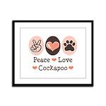 Peace Love Cockapoo Framed Panel Print