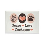 Peace Love Cockapoo Rectangle Magnet (100 pack)