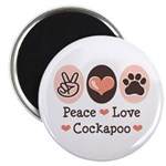 Peace Love Cockapoo Magnet