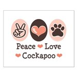 Peace Love Cockapoo Small Poster