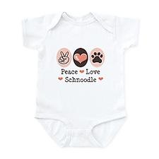 Peace Love Schnoodle Infant Bodysuit