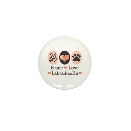Peace Love Labradoodle Mini Button (100 pack)