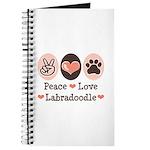 Peace Love Labradoodle Journal