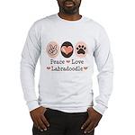 Peace Love Labradoodle Long Sleeve T-Shirt