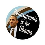 Pennsylvania is for Obama big button