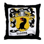 Lessing Family Crest Throw Pillow