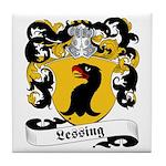 Lessing Family Crest Tile Coaster