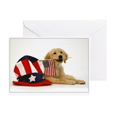 SNAPshotz Golden Puppy 4th of July Greeting Card