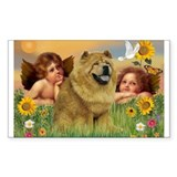 Angels & Chow Chow Rectangle Decal