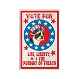Vote for Boston Terrier Rectangle Magnet