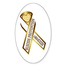 Suicide Awareness Oval Decal