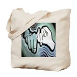 Cute American sign language Tote Bag