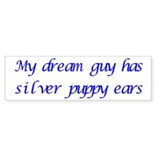 Dream Guy Puppy Ears 2 Bumper Car Sticker