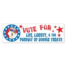 Vote for Bichon Bumper Bumper Sticker
