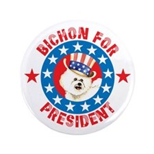 "Vote for Bichon 3.5"" Button"