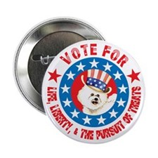 "Vote for Bichon 2.25"" Button (10 pack)"