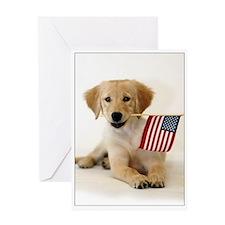 SNAPshotz Golden Puppy & Flag Photo Card
