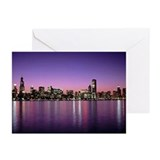 Chicago Nitetime Skyline Greeting Cards (Pk of 20)