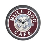 Bulldog Cafe Wall Clock