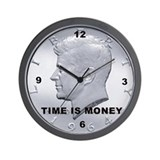 JFK coin Wall Clock