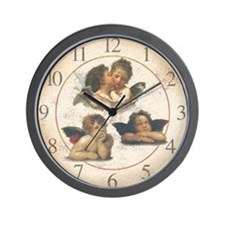 Cherubs and Angels Wall Clock