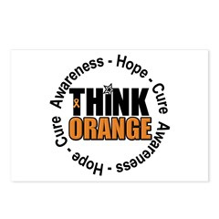 Think Orange Leukemia Postcards (Package of 8)