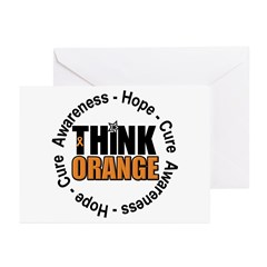 Think Orange Leukemia Greeting Cards (Pk of 10)