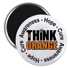 Think Orange Leukemia Magnet