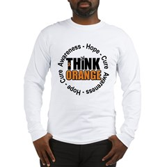 Think Orange Leukemia Long Sleeve T-Shirt