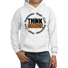 Think Orange Leukemia Hooded Sweatshirt