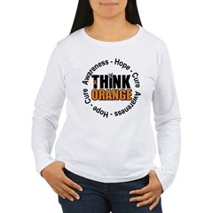 Think Orange Leukemia Women's Long Sleeve T-Shirt