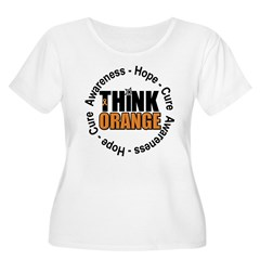Think Orange Leukemia Women's Plus Size Scoop Neck