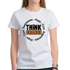 Think Orange Leukemia Women's T-Shirt