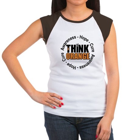 Think Orange Leukemia Women's Cap Sleeve T-Shirt