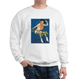 Girl Riding Toy Horse Sweatshirt