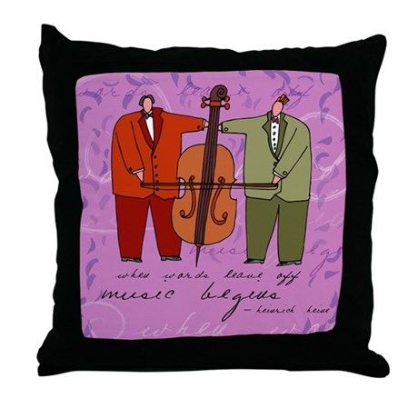 Music Begins... Throw Pillow