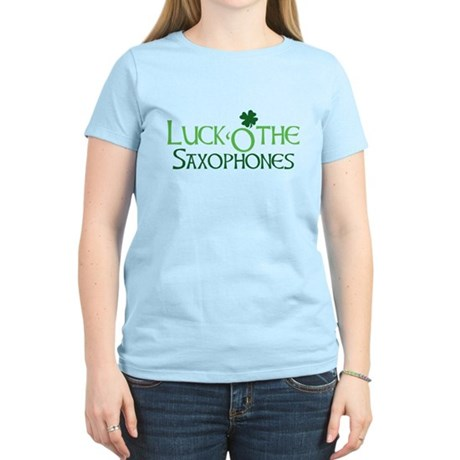 Luck 'O the Saxophones Women's Light T-Shirt