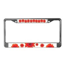 Pop Art Red Gerbera Daisy License Plate Frame