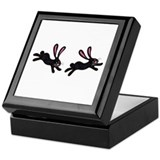 black bunnies Keepsake Box