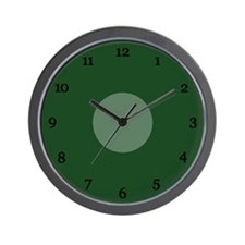 Green Wall Clock (11B)