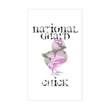 National Guard Chick Rectangle Decal