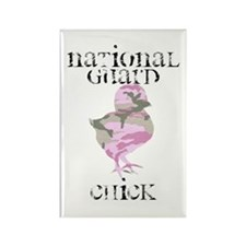 National Guard Chick Rectangle Magnet